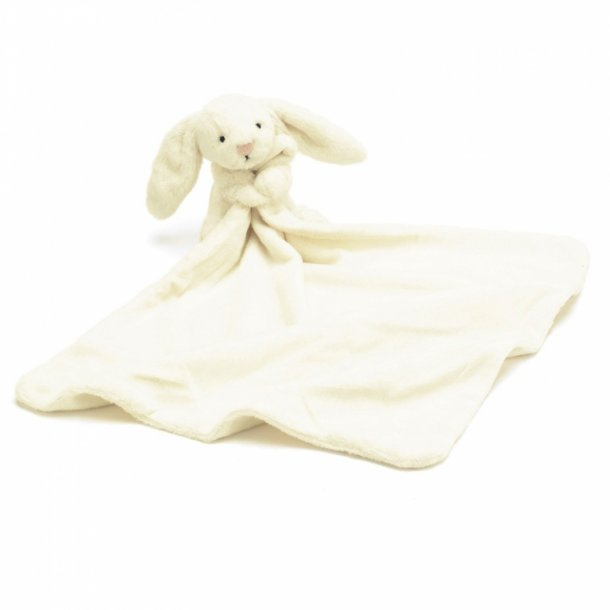 Jellycat bamse, bashful kanin nusseklud råhvid