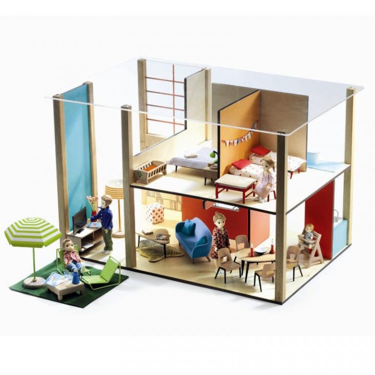 Djeco stort dukkehus, cubic house