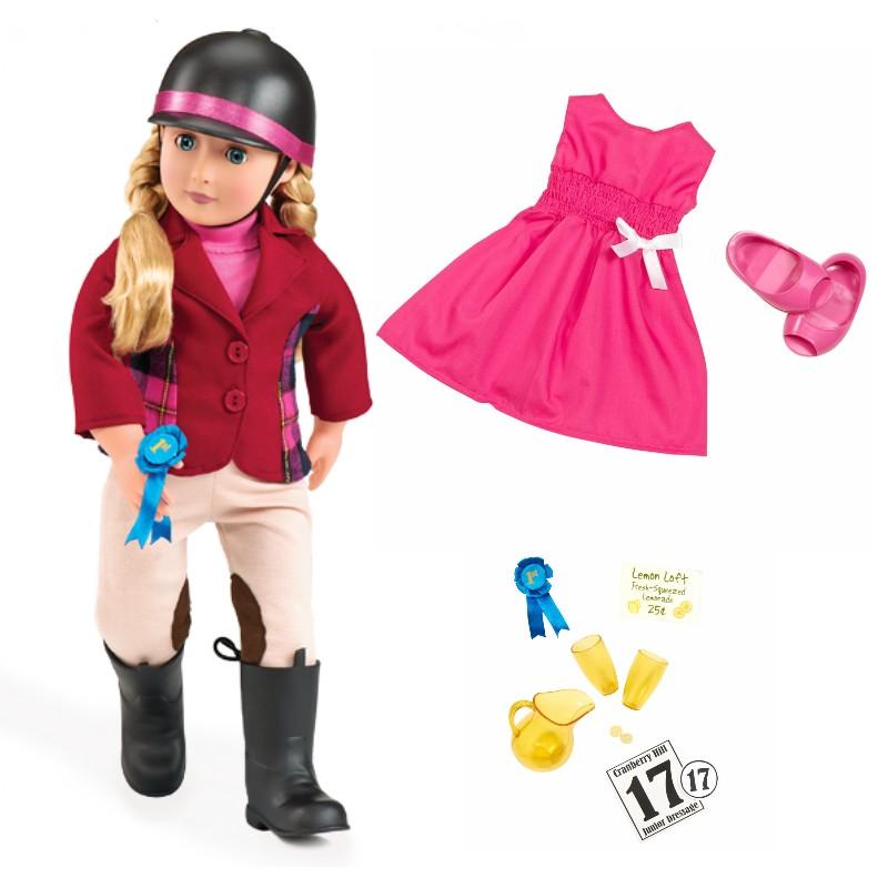Image of   Our Generation dukke Lily Anna inkl ekstra tøj, 46 cm
