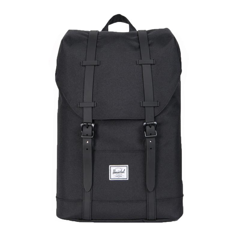 Moderne Herschel rygsæk, Retreat Youth - sort - Herschel - Børneneskartel.dk AO-89