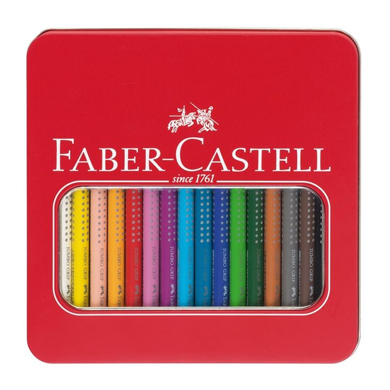 faber castell jumbo akvarel grip farveblyanter 16 stk i. Black Bedroom Furniture Sets. Home Design Ideas