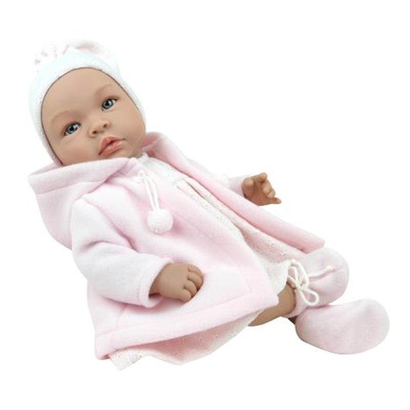 Image of Así Leonora babydukke, pige med frakke og hue - 46 cm