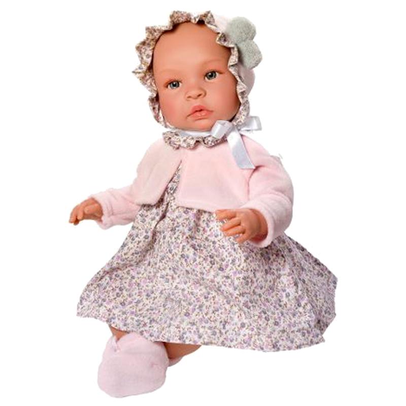 Image of Así Leonora babydukke, pige med kjole og jakke - 46 cm