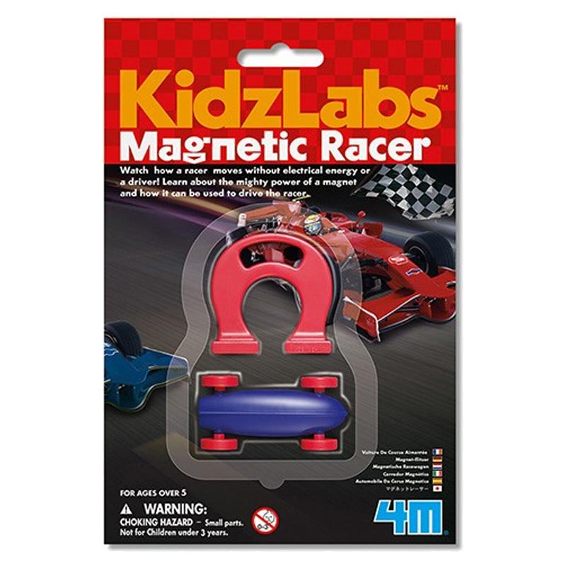 Image of   4M KidzLabs eksperiment legetøj, magnetisk racerbil