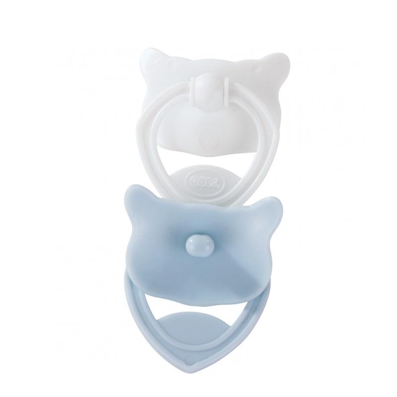 Image of   Götz 2-pak dukkesutter, lyseblå og hvid