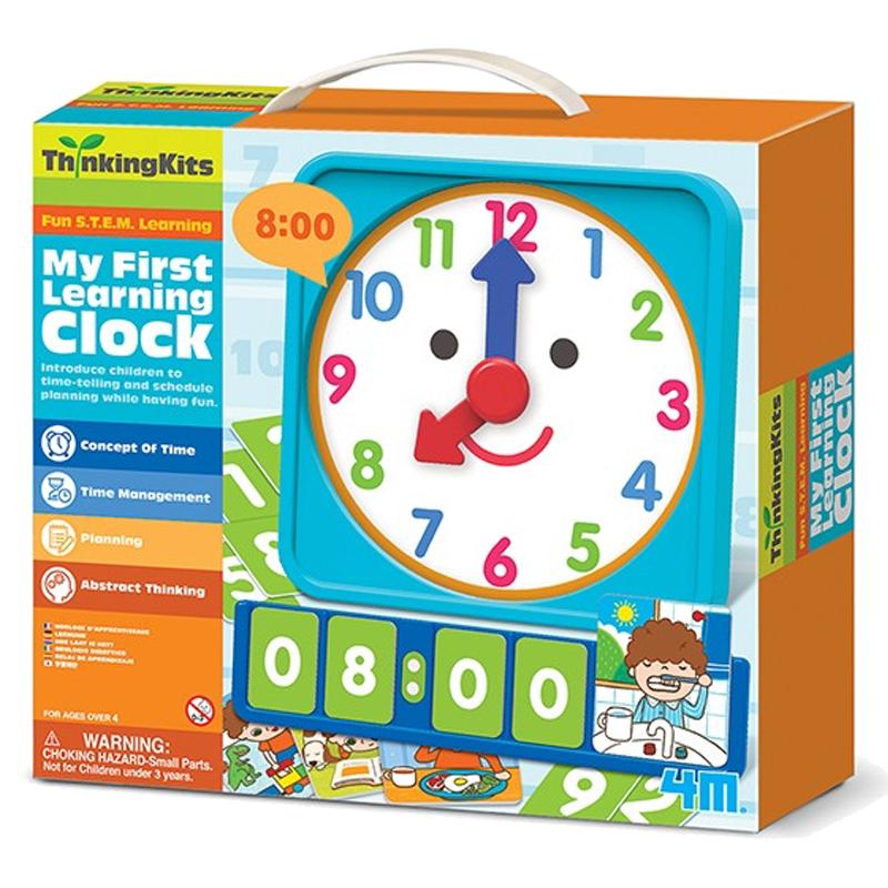 Image of   4M læringssæt, lær klokken