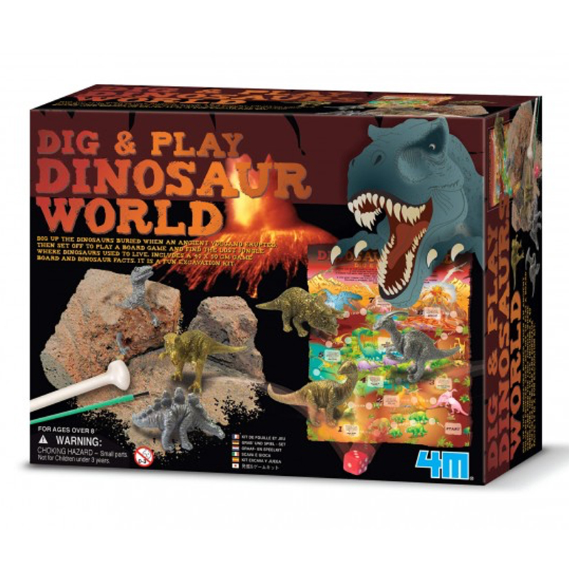 Image of   4M KidzLabs eksperiment legetøj, Dinosaurernes verden