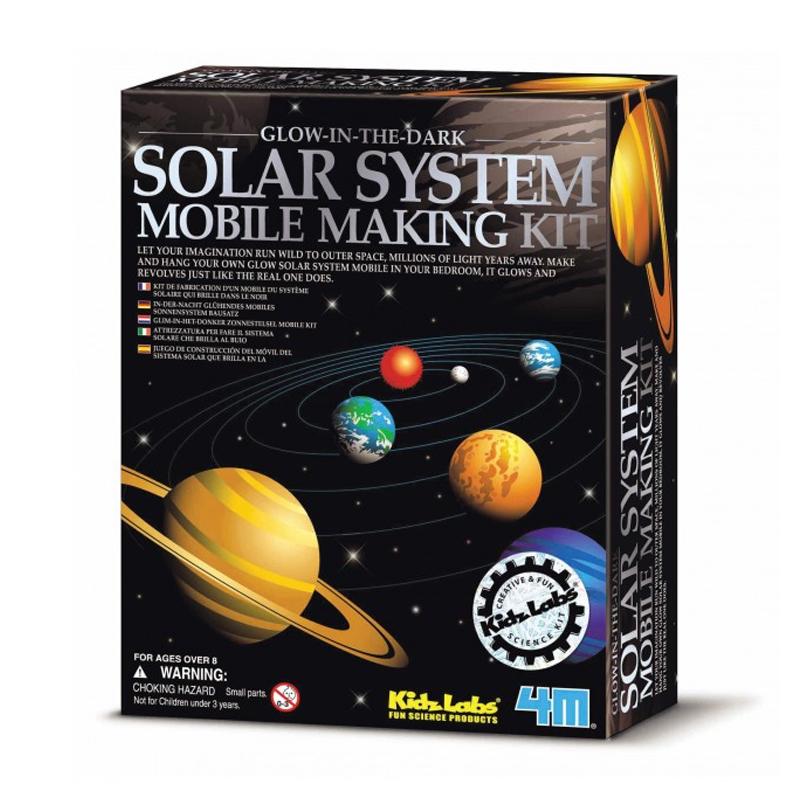 Image of   4M KidzLabs eksperiment legetøj, lav et solsystem uro