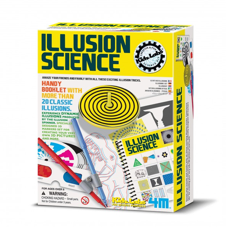 Image of   4M KidzLabs eksperiment legetøj, illusions videnskab
