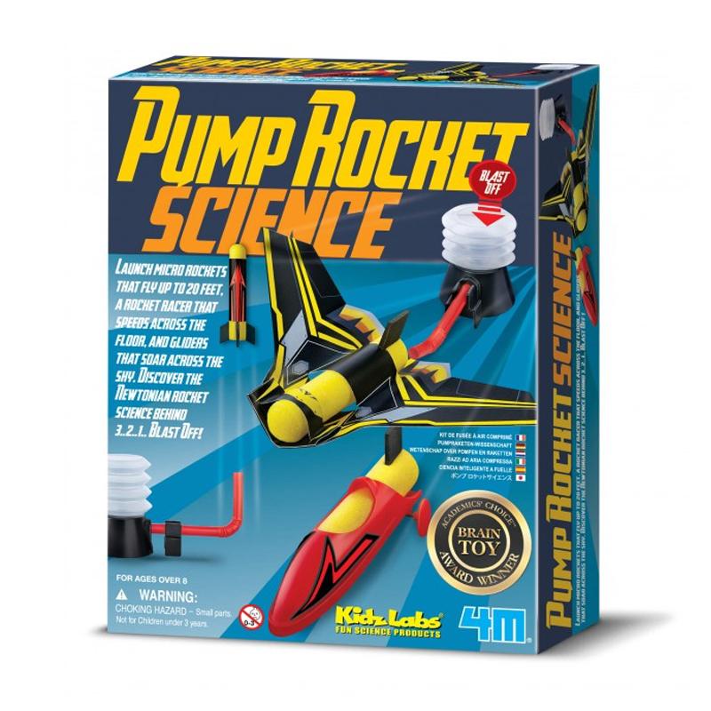 Image of   4M KidzLabs eksperiment legetøj, eksperiment med pumpe raket