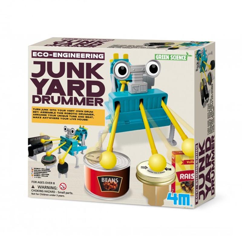 Image of   4M KidzLabs eksperiment legetøj, trommer af genbrugsmaterialer
