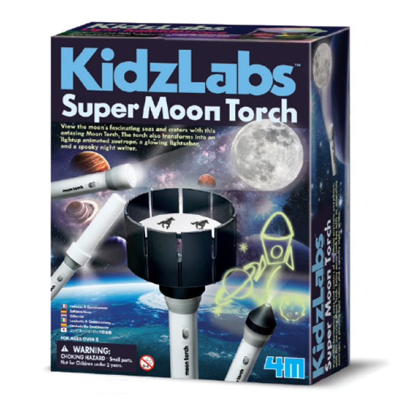 Image of   4M Kidzlabs eksperiment legetøj, super moon torch