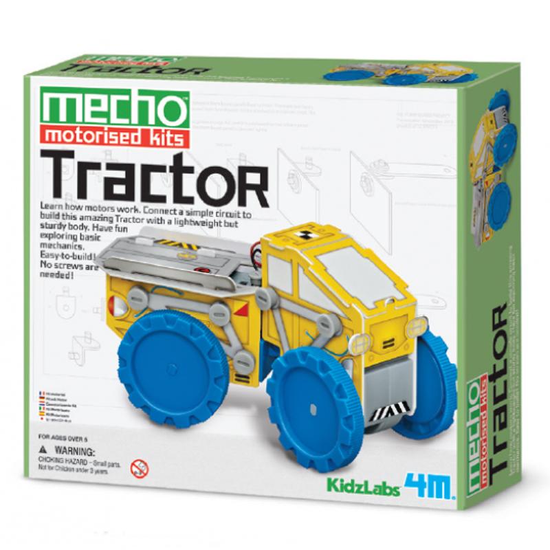 Image of   4M Kidzlabs eksperiment legetøj, byg en traktor