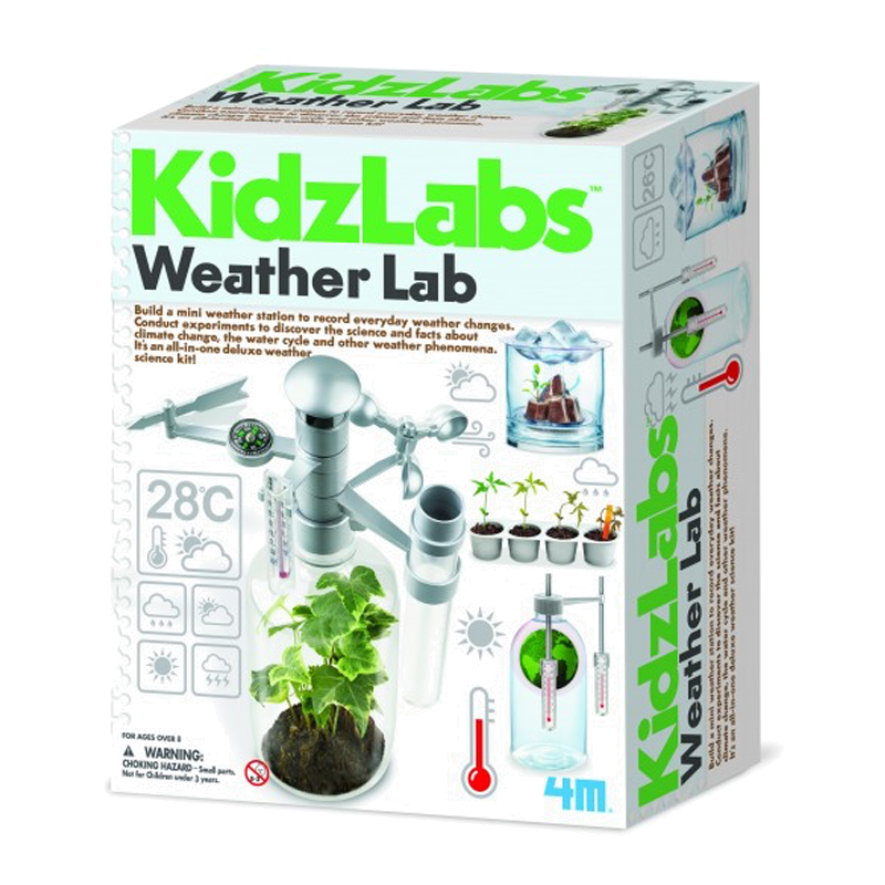 Image of   4M KidzLabs eksperiment legetøj, Vejr laboratorium