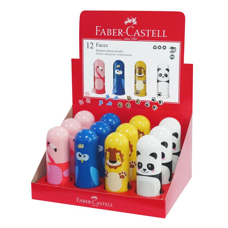 Faber-Castell blyantspidser med viskelæder, dyr