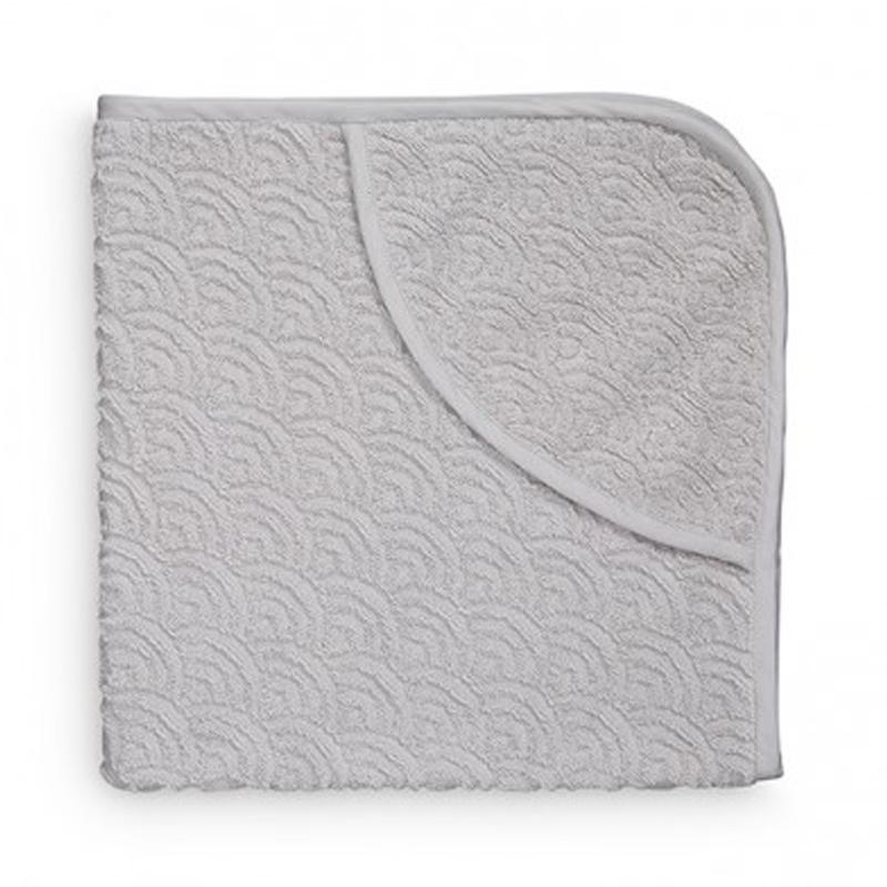 Cam Cam babyhåndklæde med hætte, grå