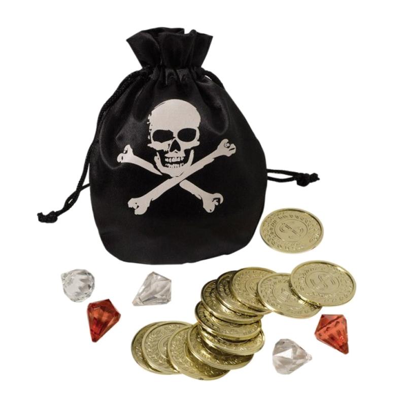 Image of Piratpung med mønter og ædelsten