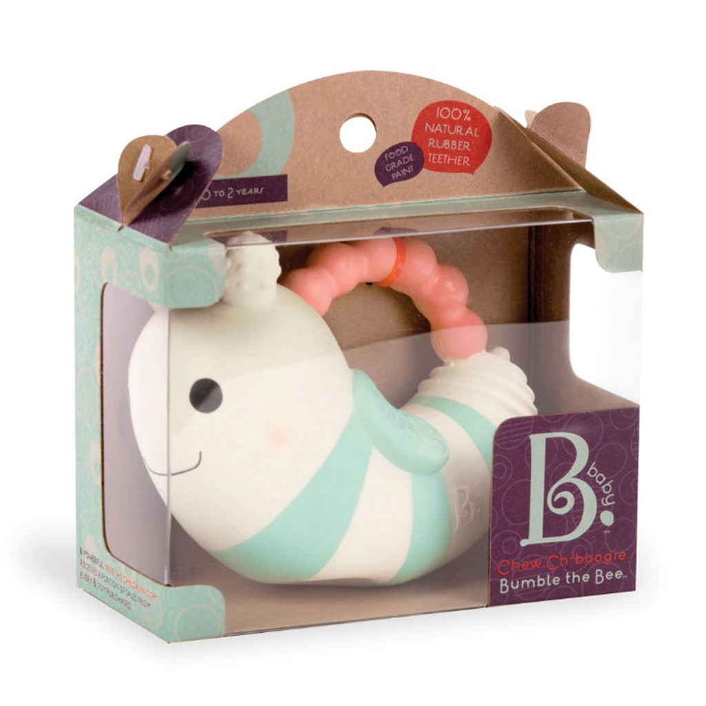 Image of B Toys bidedyr i naturgummi, Bumble B