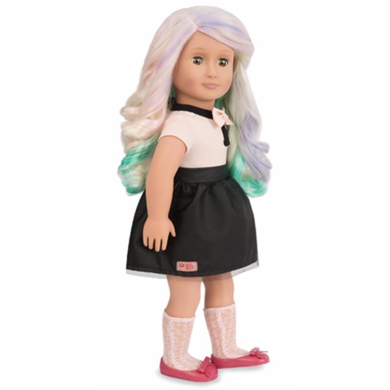 Image of   Our Generation dukke, Amya med farver til håret