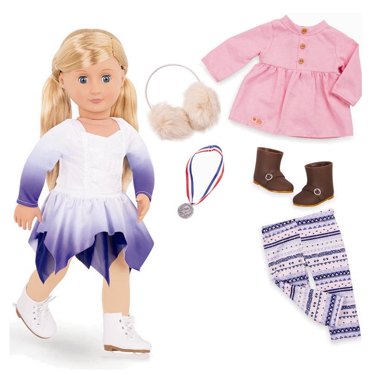 Image of   Our Generation dukke, Katelyn og 1 sæt tøj - 46 cm