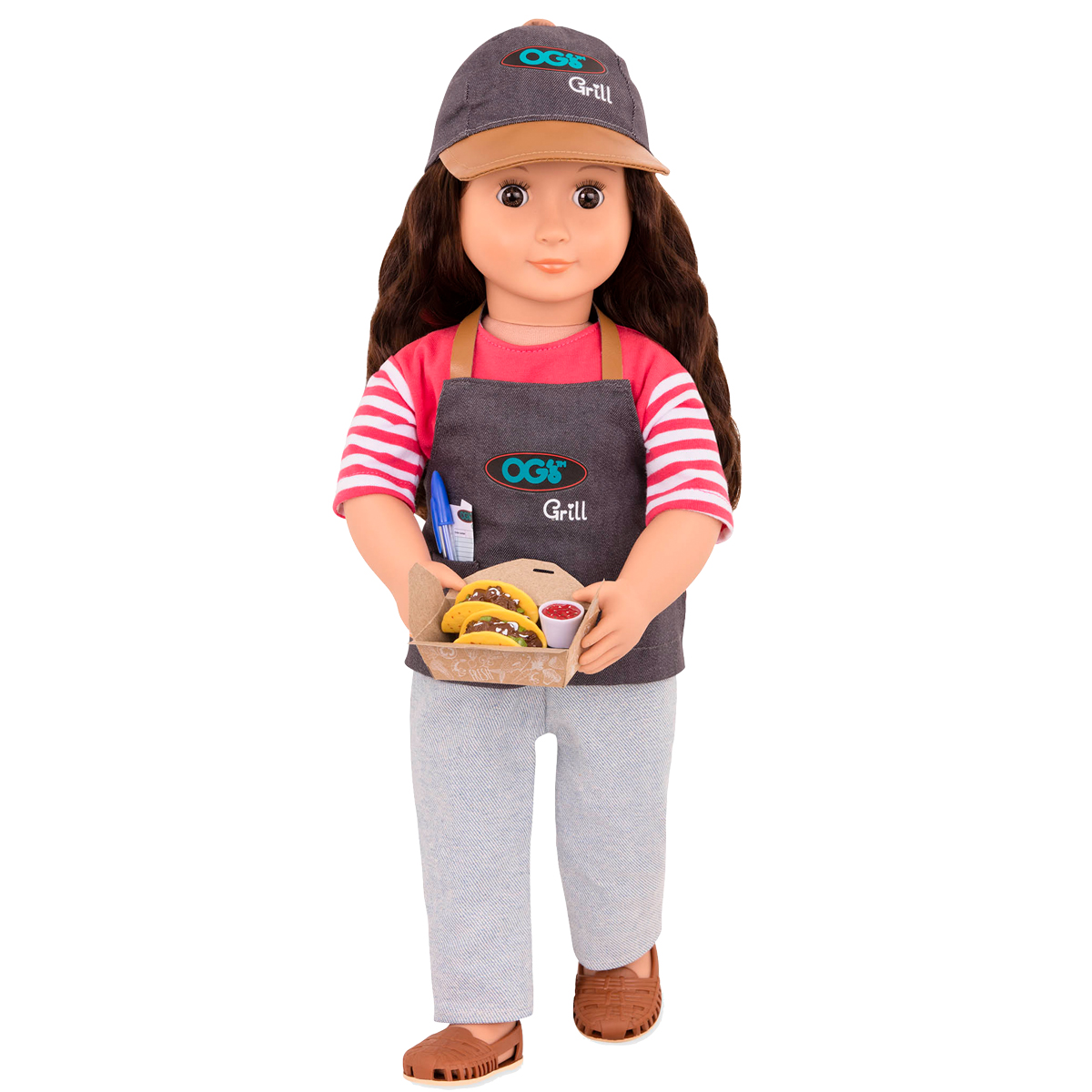 Image of   Our Generation dukke, Foodtruck Rayna - 46 cm