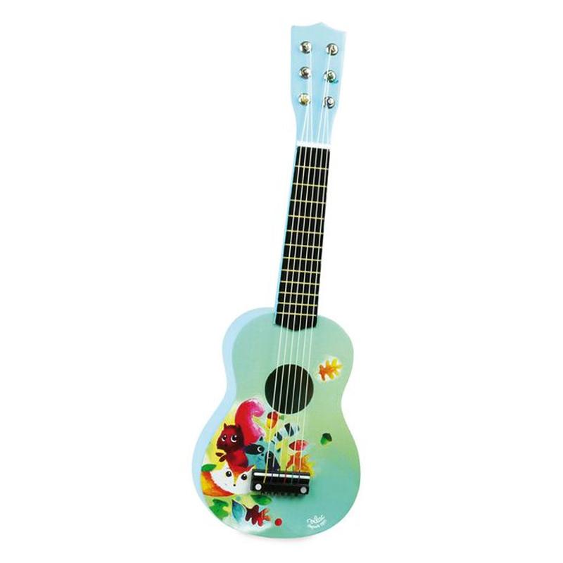 Vilac guitar, woodland - Vilac - Børneneskartel.dk