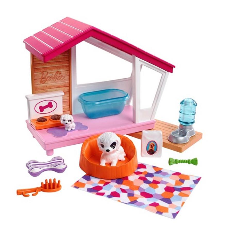 Billede af Barbie dukketilbehør, hundehus