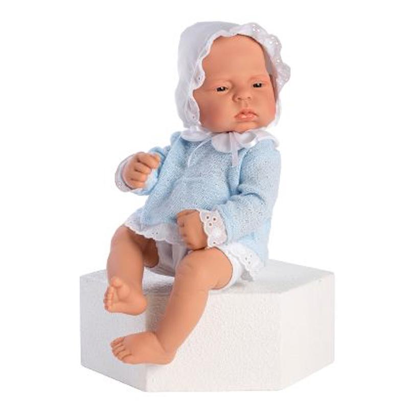 Image of Así Lucas babydukke, dreng med todelt sæt - 42 cm