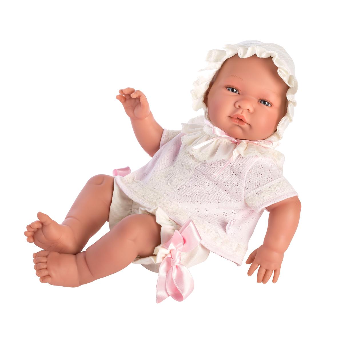 Image of Así Maria babydukke, pige med 2-delt sæt - 43 cm