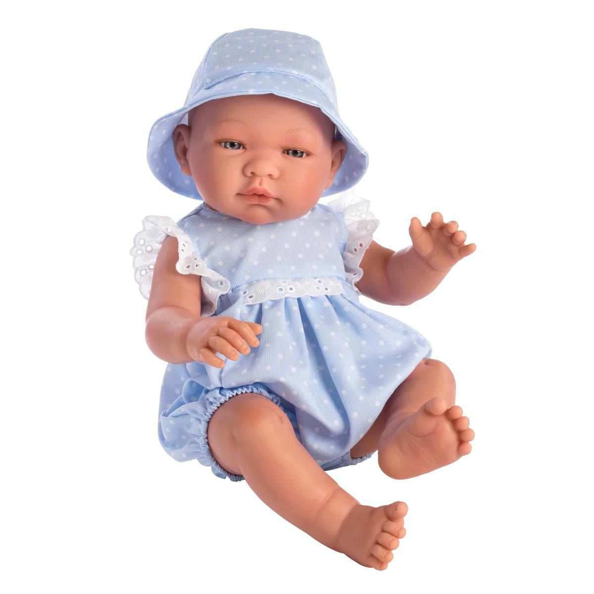 Image of Así Pablo babydukke, dreng med prikket sæt - 43 cm