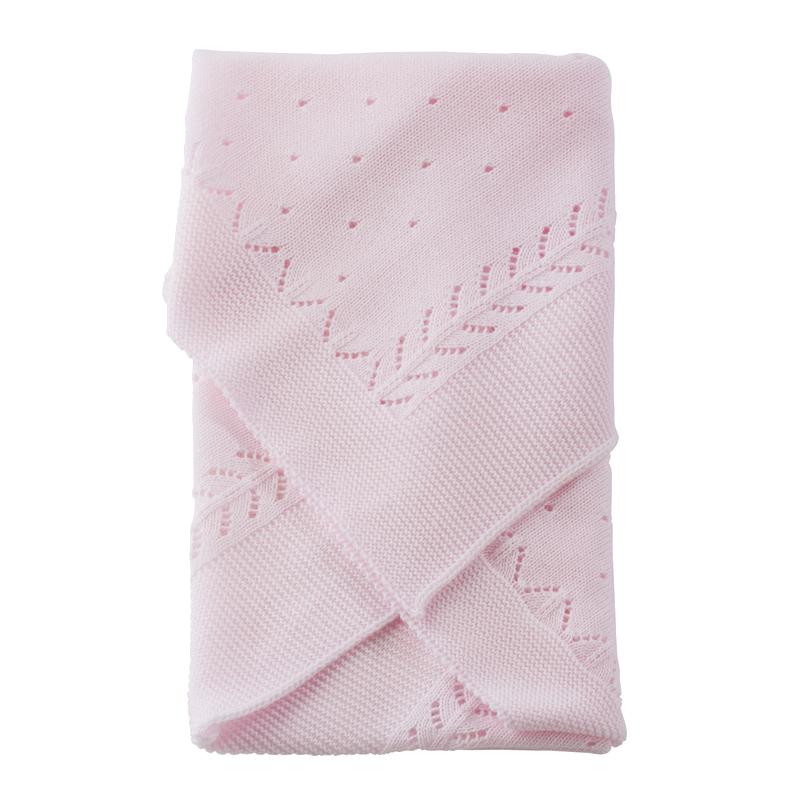 Image of Así dukketilbehør, strikket tæppe - pink