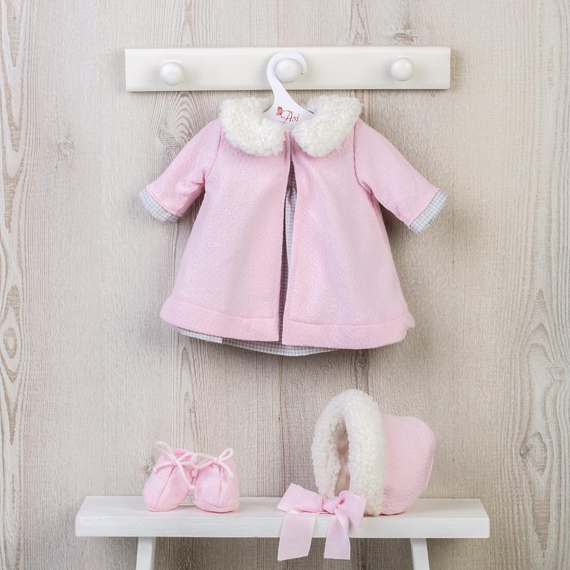 Image of Así dukketøj, kjole og rosa jakke - 46 cm