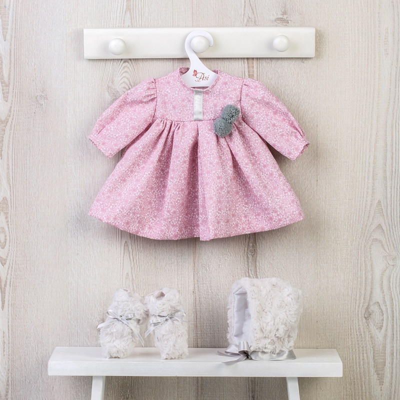 Image of Así dukketøj, rosa kjole - 46 cm
