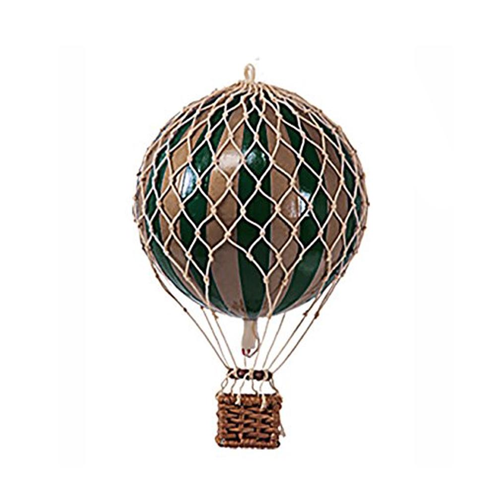Image of Authentic Models luftballon 8,5 cm - mørkegrøn og guld