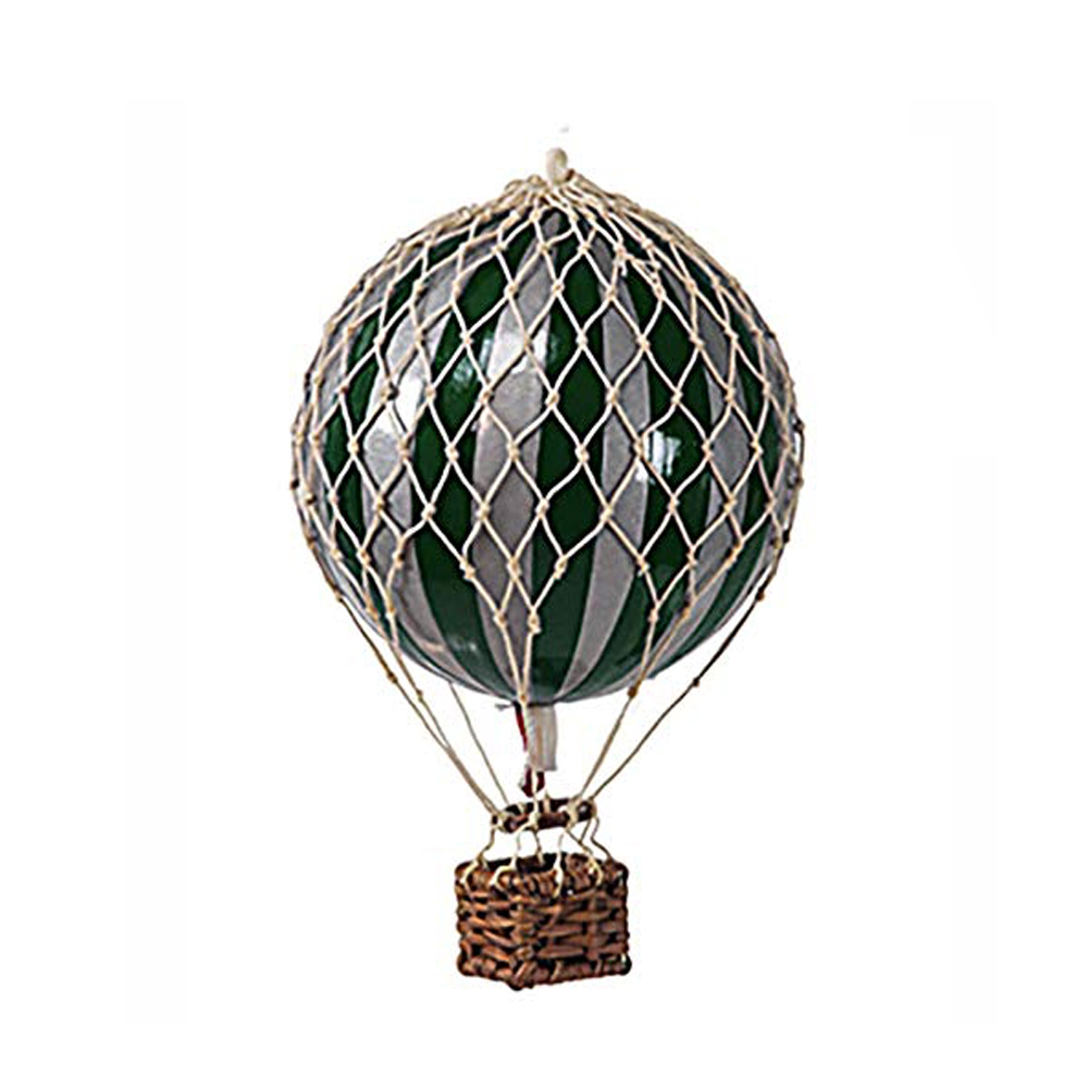 Image of Authentic Models luftballon 8,5 cm - mørkegrøn og sølv