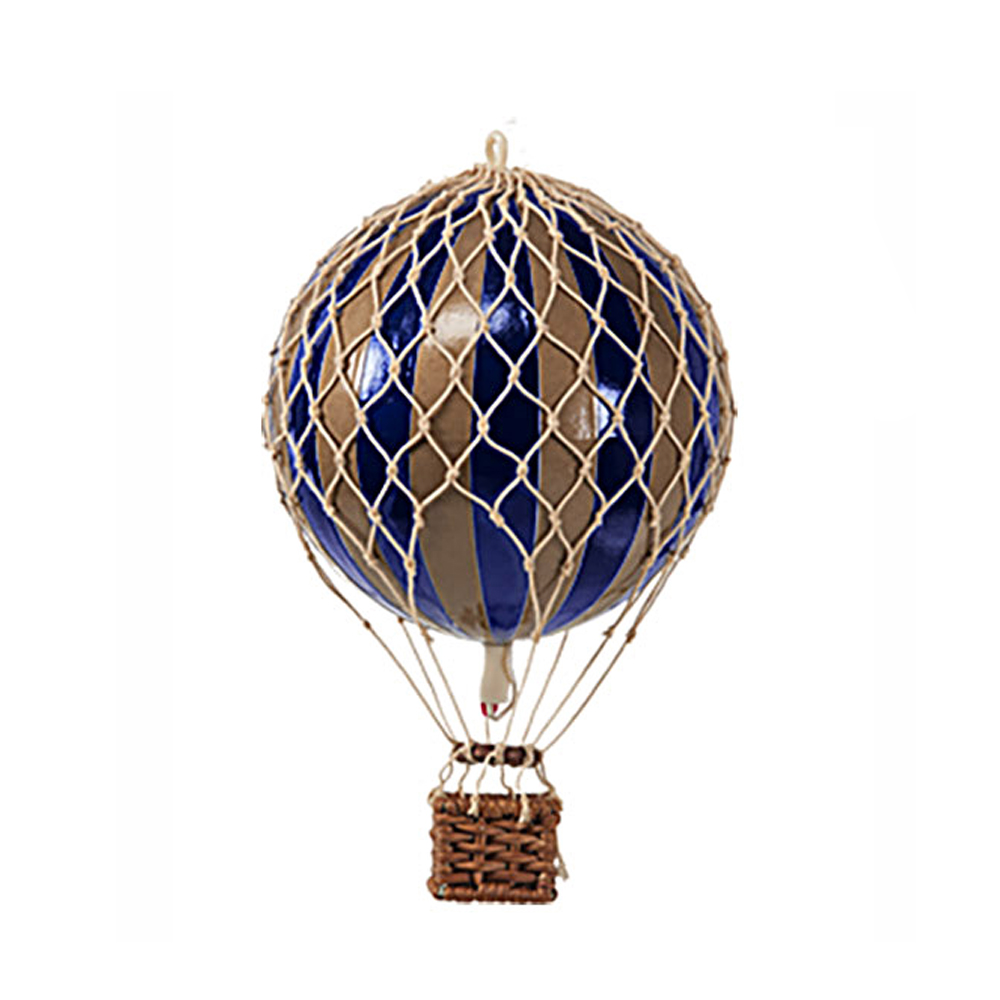 Image of Authentic Models luftballon 8,5 cm - navyblå og guld