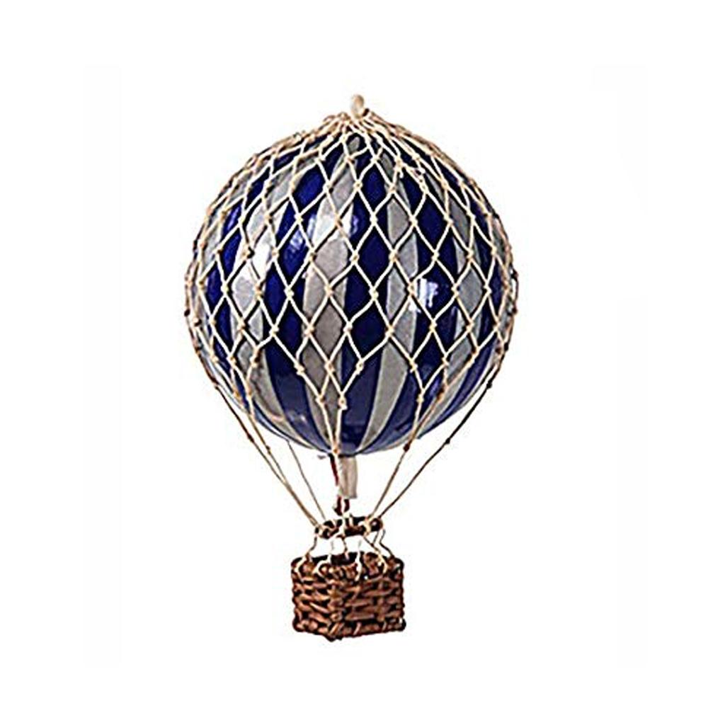 Image of Authentic Models luftballon 8,5 cm - navyblå og sølv