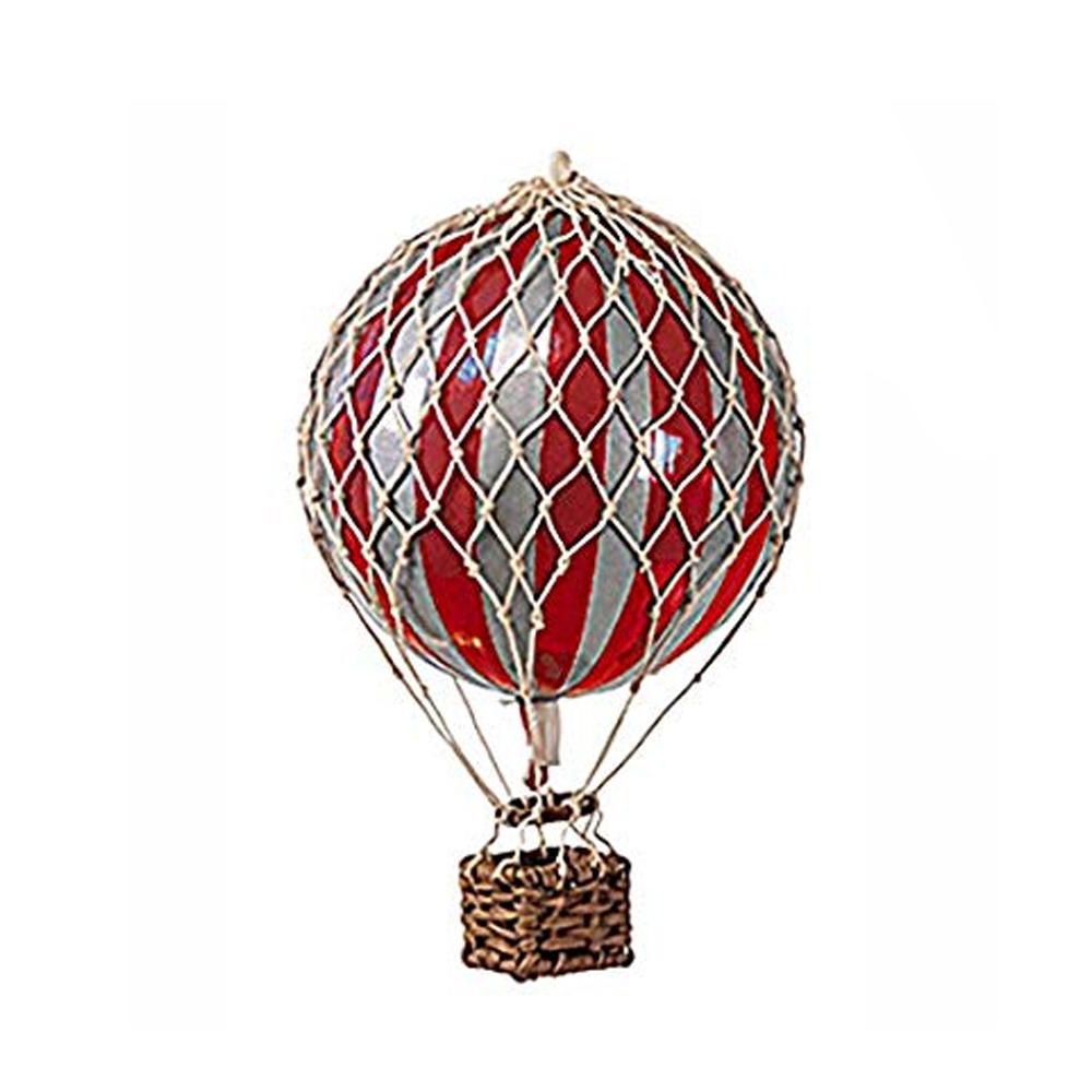 Image of Authentic Models luftballon 8,5 cm - rød og sølv