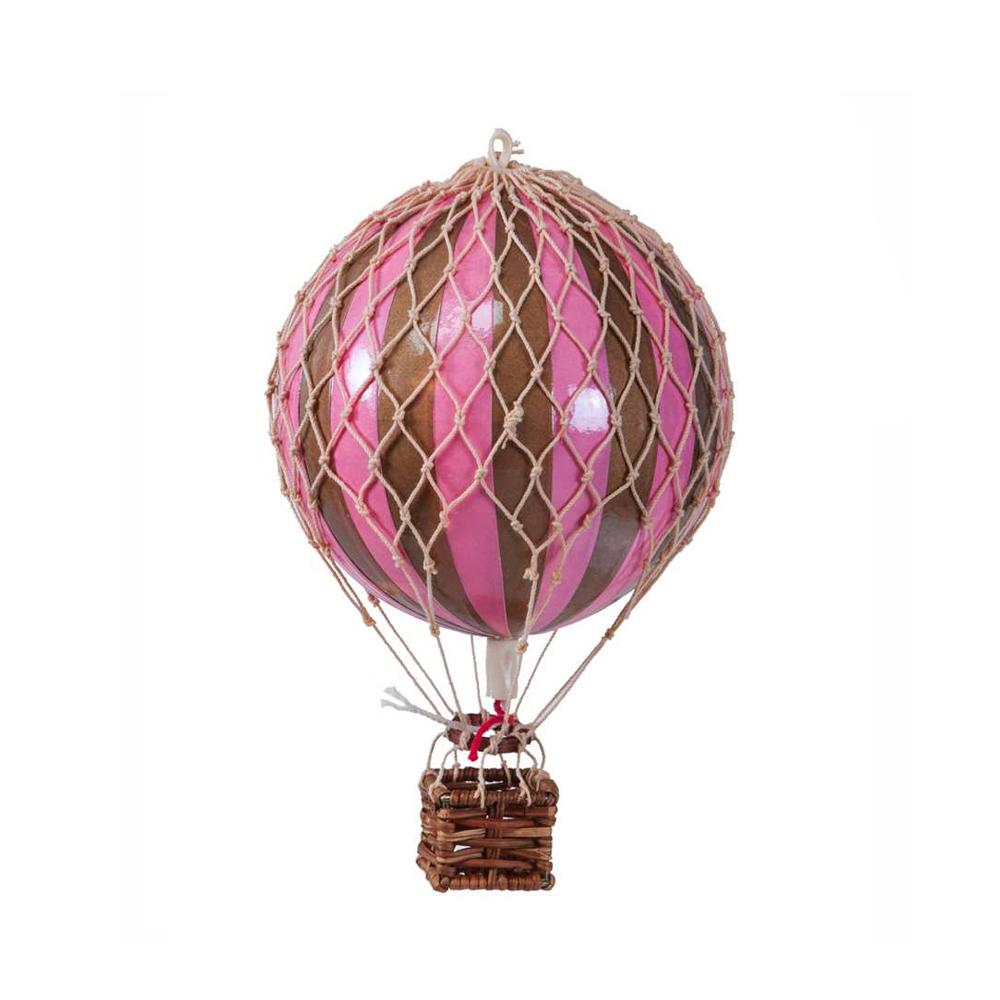 Image of Authentic Models luftballon 8,5 cm - rosa og guld