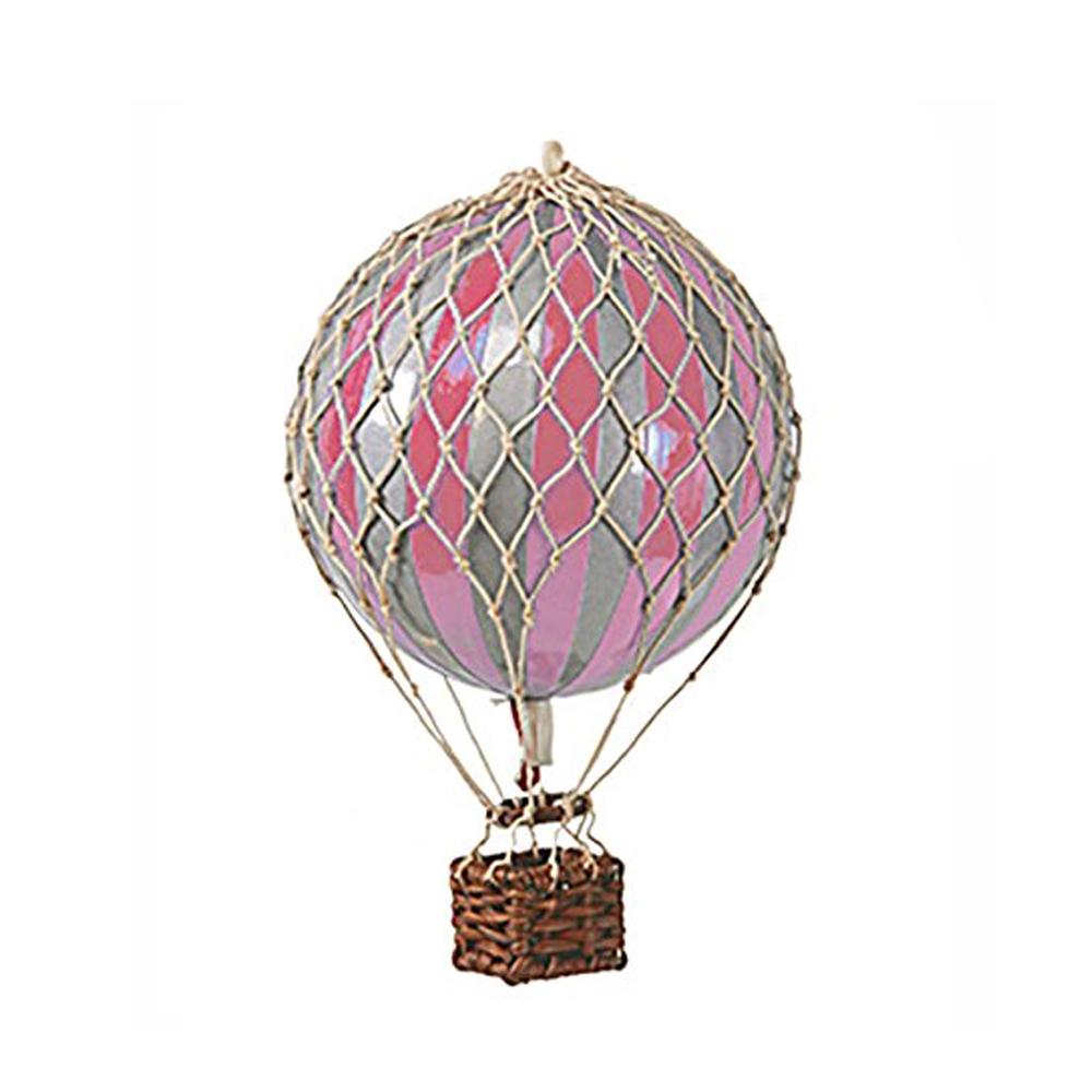 Image of Authentic Models luftballon 8,5 cm - rosa og sølv