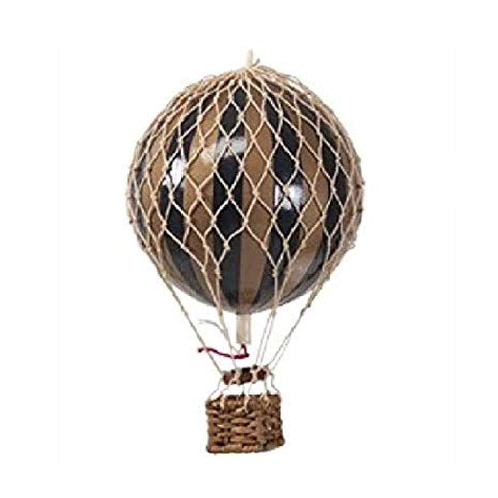 Image of Authentic Models luftballon 8,5 cm - sort og guld