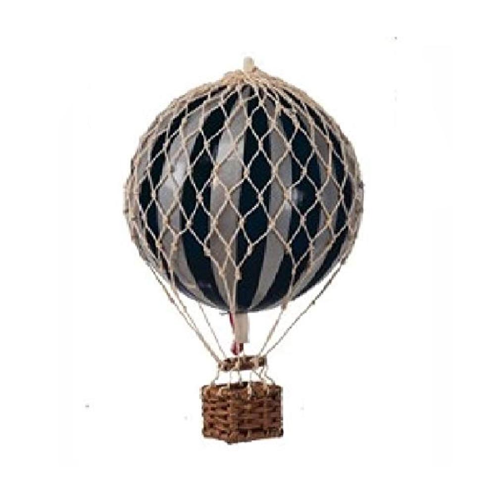 Image of Authentic Models luftballon 8,5 cm - sort og sølv