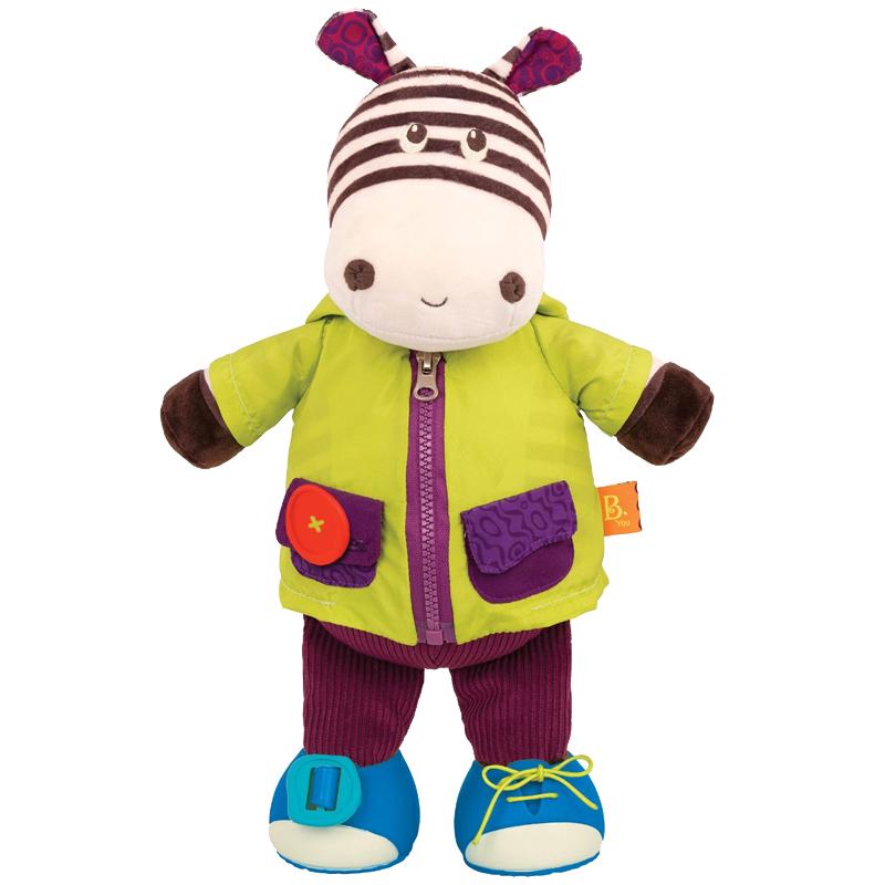 Image of B Toys klæd-på bamse, zebra