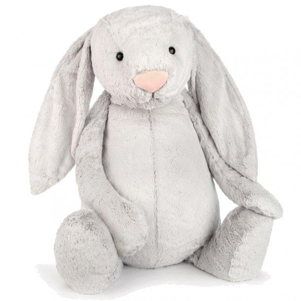 Jellycat bamse, bashful kanin silver - 108 cm