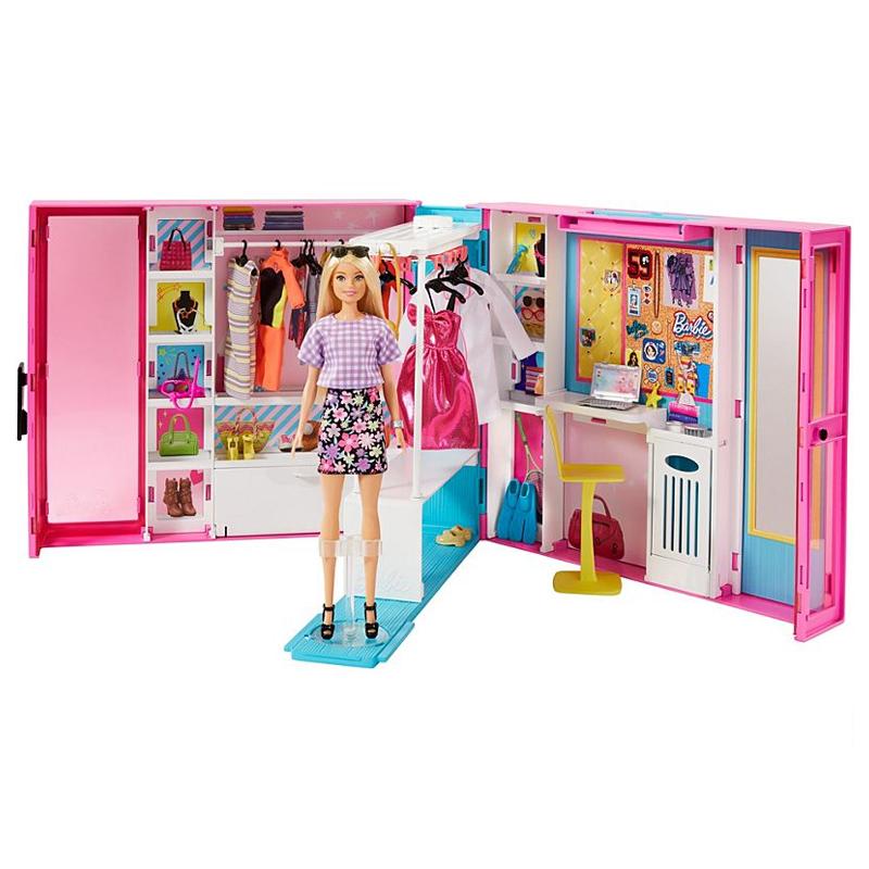Billede af Barbie drømme klædeskab inkl dukke og tøj