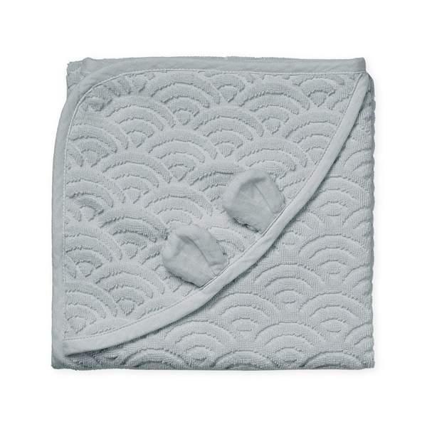 Cam Cam babyhåndklæde 80×80, Classic Grey
