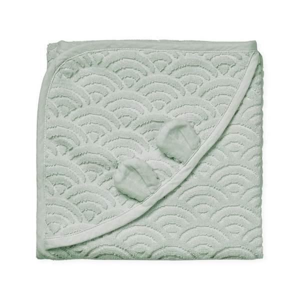 Cam Cam babyhåndklæde 80×80, Dusty Green