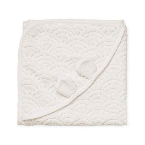 Cam Cam babyhåndklæde 80×80, Off-white