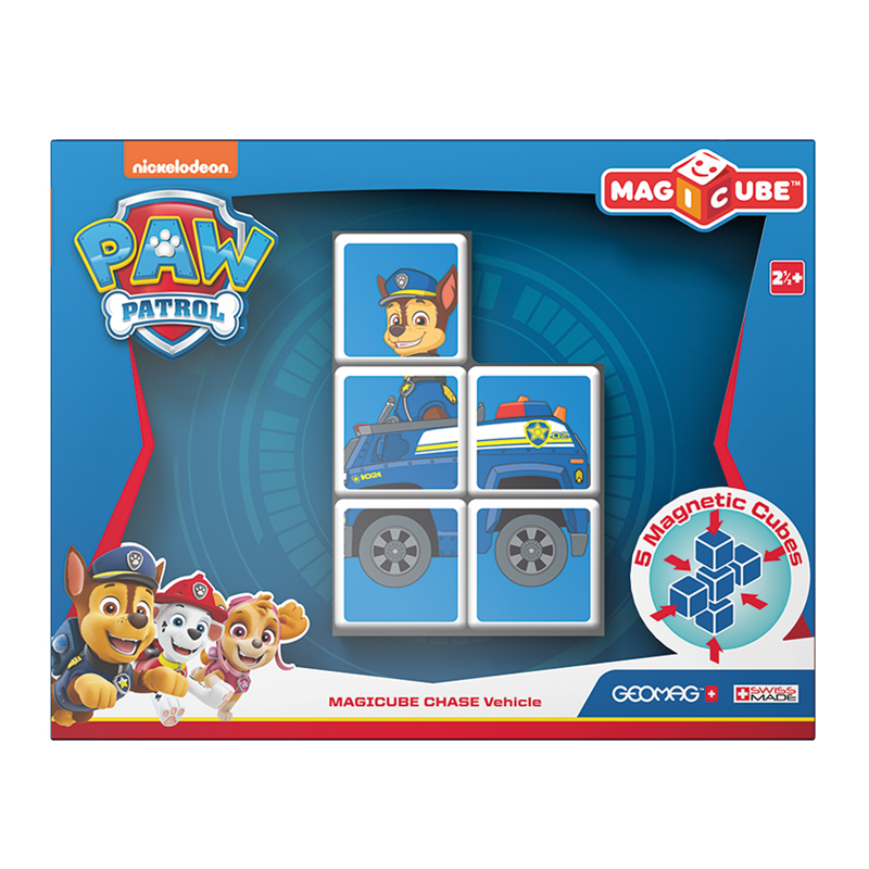 Image of Geomag Magicube, 5 klodser Paw Patrol - Chase