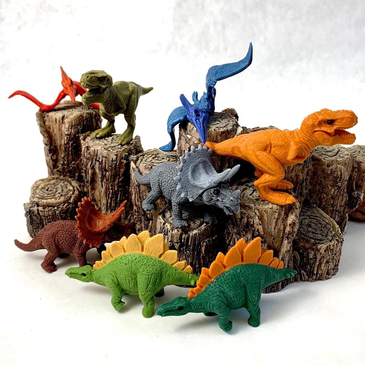Iwako viskelæder, dinosaurer ass.